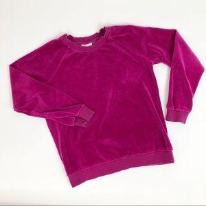 Hanna Andersson Velour Crewneck Sweatshirt Size 12